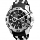 Invicta Watch for Men, Rubber , Silver and Black, 22311