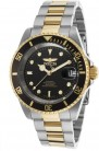 Invicta Pro Diver Men's Black Dial Stainless Steel Band Automatic Watch